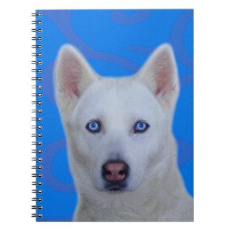 Weißes Husky-Notizbuch Notizblock