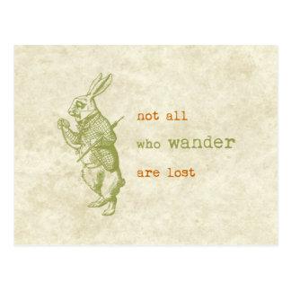Weißes Kaninchen, Alice im Wunderland Postkarten