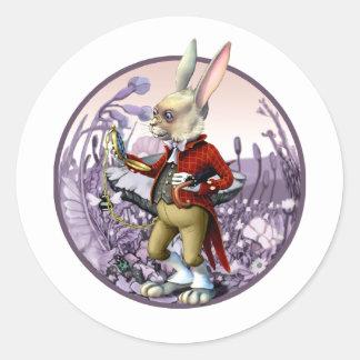Weißes Kaninchen |Alice in Runder Aufkleber