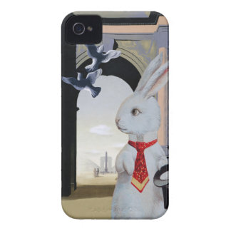 Weißes Kaninchen geht nach Paris; Niedliche iPhone 4 Case-Mate Hüllen