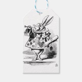 Weißes Kaninchen Geschenkanhänger