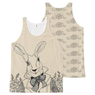Weißes Kaninchen von Alices Abenteuern im Komplett Bedrucktes Tanktop