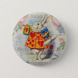 Weißes Kaninchen von Herz-Märchenland Runder Button 5,7 Cm