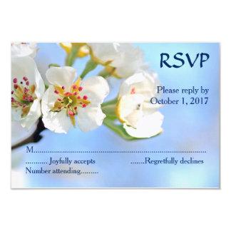 Weißes Kirschblüten-christliches Hochzeit UAWG Karte