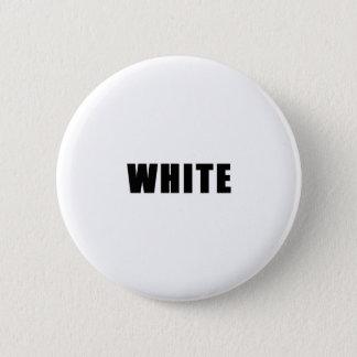 Weißes Knopf-Button Runder Button 5,7 Cm