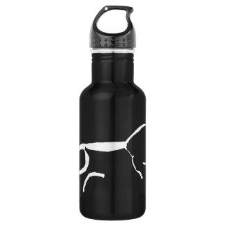 Weißes Kreide-Pferd Trinkflasche