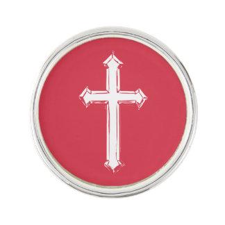 Weißes Kreuz Anstecknadel