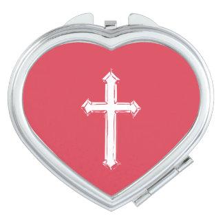 Weißes Kreuz Schminkspiegel