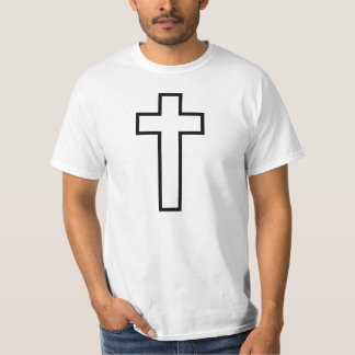 Weißes Kreuz T-Shirt