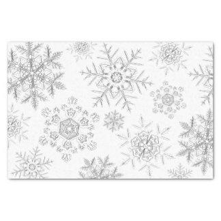 Weißes kristallenes Schneeflocke-Seidenpapier Seidenpapier
