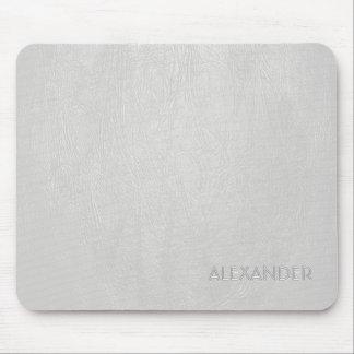 Weißes Leder-Muster-Beschaffenheits-kundenspezifis Mousepads