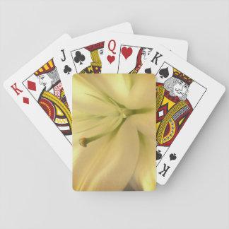 Weißes Lillum Blumen-Foto-klassische Spielkarten
