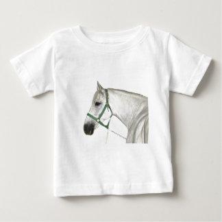 Weißes Lipizzaner Pferd Baby T-shirt