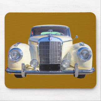 Weißes Luxus-Auto MERCEDES-BENZ 300 Mousepad