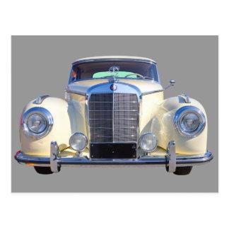 Weißes Luxus-Auto MERCEDES-BENZ 300 Postkarte