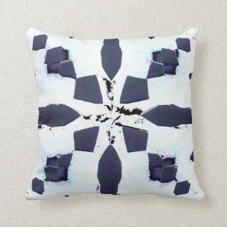 White Navy Throw Pillow