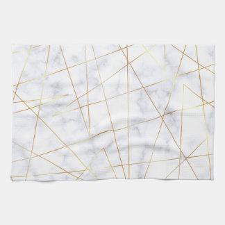 weißes MarmorImitatgold des eleganten Kükens Handtuch