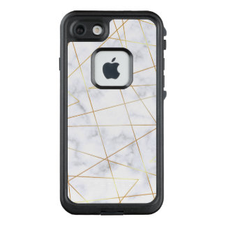 weißes MarmorImitatgold des eleganten Kükens LifeProof FRÄ' iPhone 8/7 Hülle