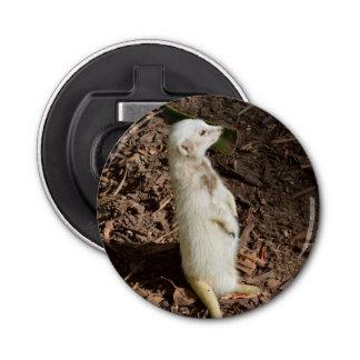 Weißes Meerkat, magnetische Flaschen-Öffner Runder Flaschenöffner