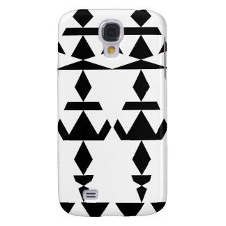 Weißes minimales Stammes- Galaxy S4 Hülle