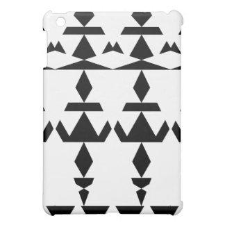 Weißes minimales Stammes- iPad Mini Hülle