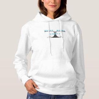 Weißes mit Kapuze Sweatshirt