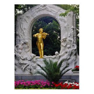 Weißes Monument Johann Strauss, Wien, Österreich Postkarte