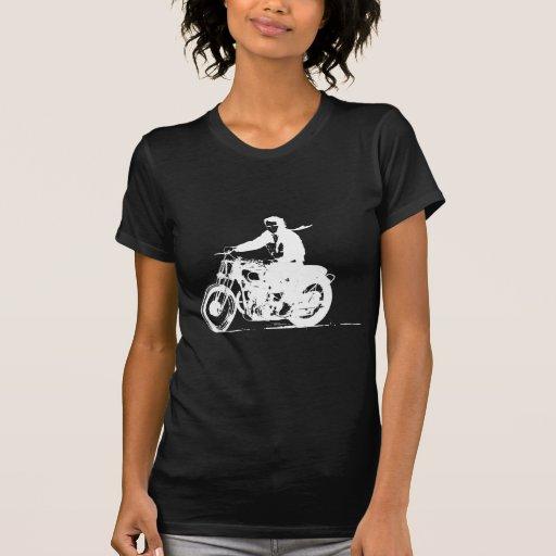 Weißes Motorrad Tshirt