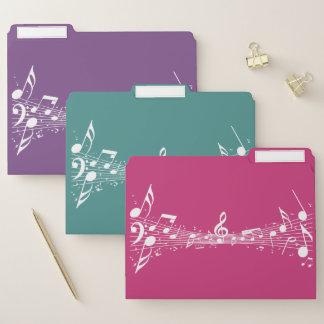 Weißes musikalische papiermappe