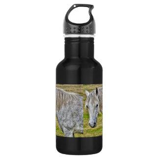 Weißes neues Waldpony-wildes Pferd Trinkflasche