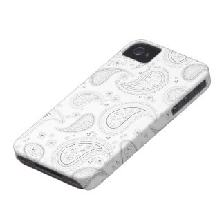 Weißes Paisley-Muster stilvoller iphone 4 Casemate Case-Mate iPhone 4 Hülle