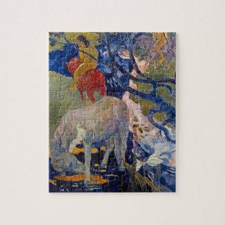 Weißes Pferd durch Gauguin, Vintage Puzzle