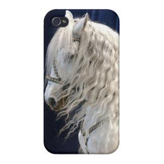 Weißes Pferd iPhone 4 Etuis