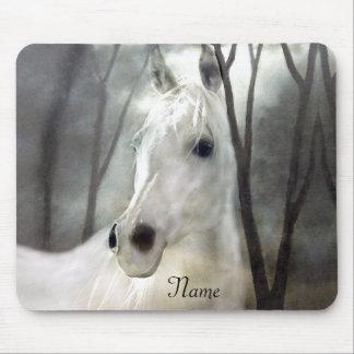 Weißes Pferd Mauspad
