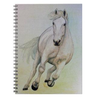 """""""Weißes Pferde"""" Notizbuch"""