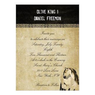 Weißes Pferdeelegante Hochzeits-Einladung