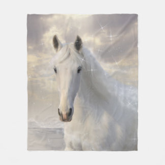 Weißes PferdeFleece-Decke Fleecedecke