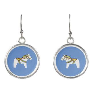 Weißes Pferdeohrringe Ohrringe