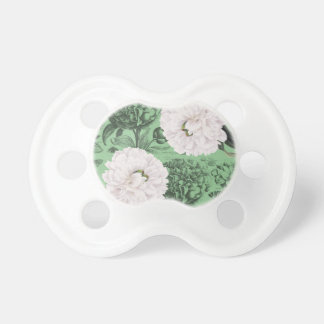 Weißes Pfingstrosen-Grün romantisch Schnuller
