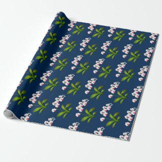 Weißes Phalaenopsis-Motten-Orchideen-Packpapier Geschenkpapier