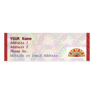 Weißes Punkt-Spektrum auf Rot: Mini-Visitenkarten