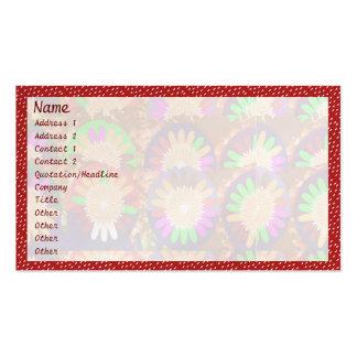 Weißes Punkt-Spektrum auf Rot: Visitenkarten