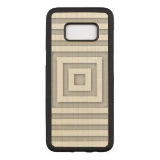 Weißes Quadrat geometrisch Carved Samsung Galaxy S8 Hülle