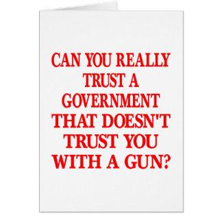 Weißes reg.-Vertrauen Sie mit Gewehr Karte