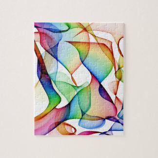 Weißes rosa und blaues abstraktes puzzle