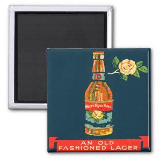 Weißes Rosen-Bier - ein altmodisches Lager Quadratischer Magnet
