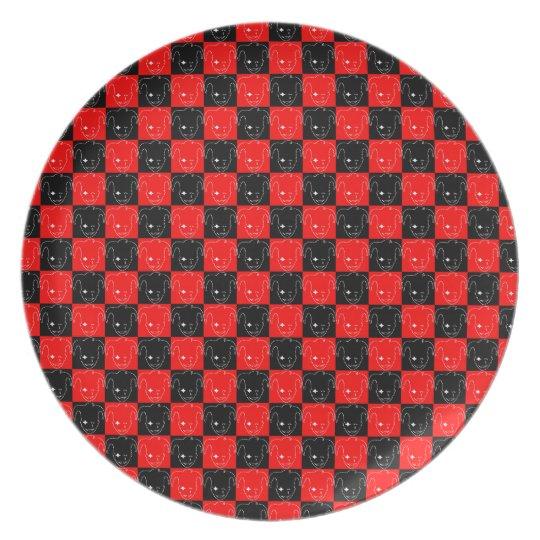 Weißes, rotes und schwarzes MTJ Teller