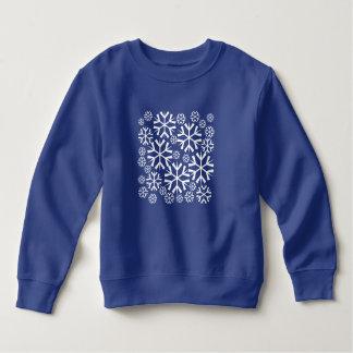 Weißes Schneeflocke-Muster Sweatshirt