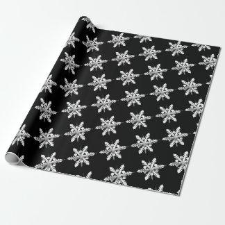 Weißes Schneeflocke-Packpapier Geschenkpapier