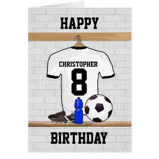 Weißes schwarzes alles Gute zum Geburtstag Fußball Grußkarten